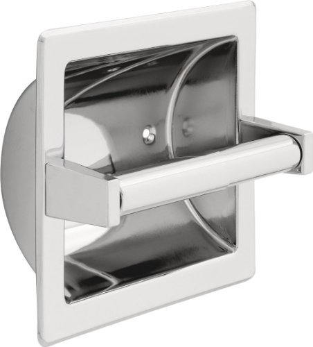 Delta Faucet 45072 Brass Recessed Paper Holder with Brass Roller, Chrome by DELTA FAUCET