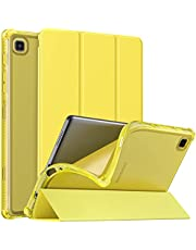 MoKo Case Fits Samsung Galaxy Tab A7 Lite 8.7 Inch SM-T225/T220/T227, Slim Lightweight Smart Case Trifold Stand Case with Soft TPU Translucent Frosted Back Shell for Galaxy Tab A7 Lite – Bright Yellow