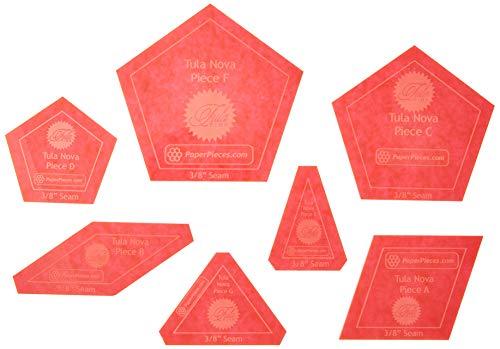 Paper Pieces ACRTULANOVA Acrylic Fabric Cutting Template for Tula Nova (7 Piece Set)