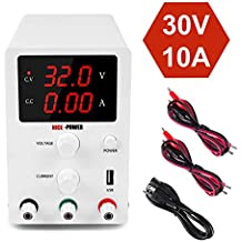 DC Power Supply Variable 3 Digital LED Display Adjustable Regulated Switching Power Supply Digital with Leads Power Cord