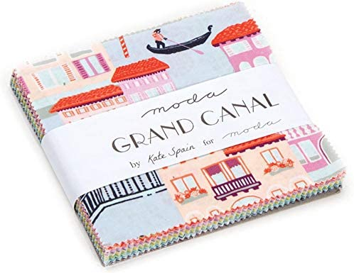 Grand Canal Charm Pack By Kate Spain; 42 - 5 Precut Fabric Quilt ...