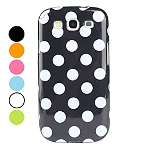AES - Spots Pattern Soft Case for Samsung Galaxy S3 I9300 (Assorted Colors) , Black