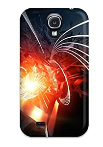 New Fashionable ZippyDoritEduard XaKzwKC2518IVwwy Cover Case Specially Made For Galaxy S4(nucelus Design Tech D Fire Nucleu Waves Lines)