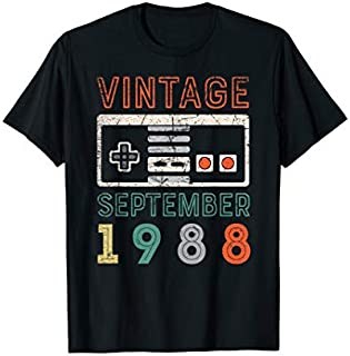 Vintage September 1988 31st Birthday  31 Year Old T-shirt | Size S - 5XL