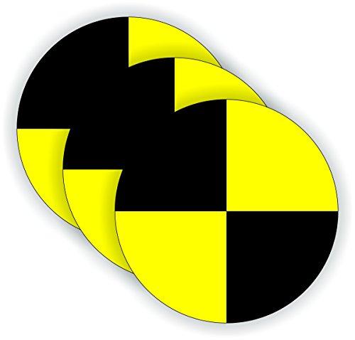 (3) CRASH TEST DUMMY Hard Hat Stickers | Motorcycle Stunt Man Helmet Decals | Funny Labels Badges Phone Case Laptop PC Toolbox