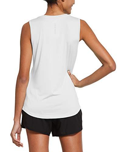 BALEAF Women's Sleeveless Workout Shirts Exercise Running Tank Tops Active Gym Tops