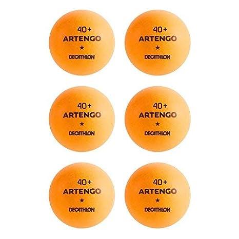 e64593da4 Buy Artengo TTB 100  40+ Table Tennis Ball 6-Pack (Orange) Online at ...