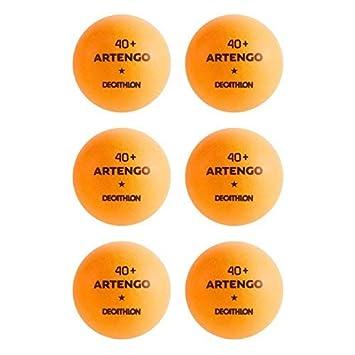 Artengo 40 + pelotas de tenis de mesa - paquete de 6, naranja, 40+: Amazon.es: Deportes y aire libre