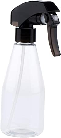 Botella de Spray Pulverizador de Agua Envase de Viaje Estuche de 200ml Tubo de Salón - Claro + Negro: Amazon.es: Hogar