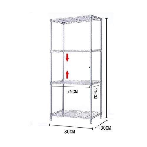 Kitchen shelf HUO Storage Shelf 8030 Floor Storage Rack (Size : 120C) by Kitchen shelf (Image #3)