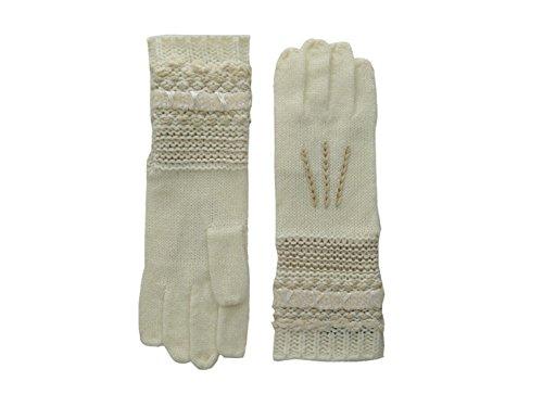 Lauren Ralph Lauren Womens Multi Texture Gloves (Cream Tonal)