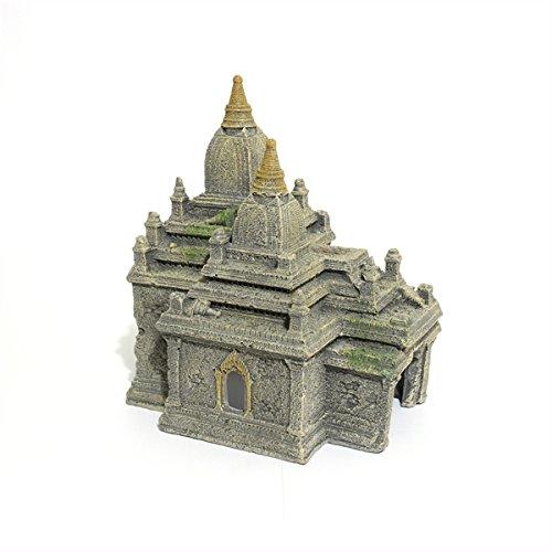 Rosewood Polyresin Bagan Temple Ruins Aquarium Ornament