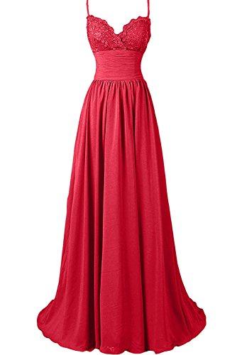 Damen kleider lang rot