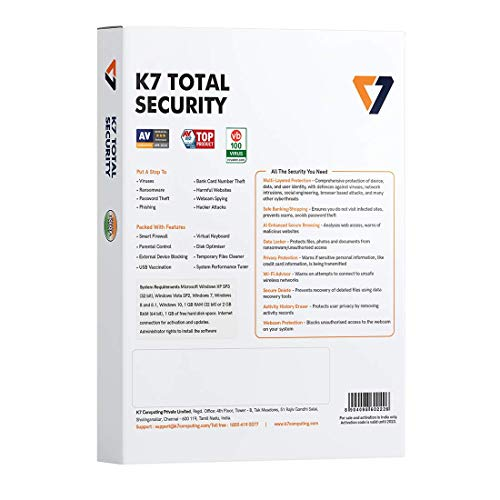 K7 Total Security - 1 PC, 1 Year (CD or Voucher) 3