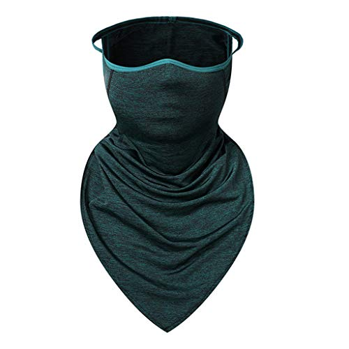 (Multifunction Ice Silk Hood - Summer Outdoor Windproof Riding Mask Breathable Bandana Windproof Headband Sunscreen Dust Seamless Mask for Climbing, Camping, Fitness, Running, Etc (E))