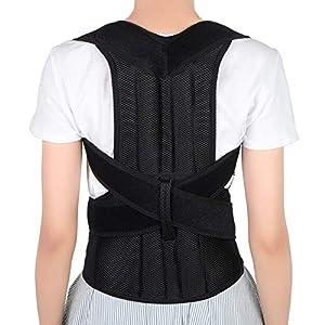Posture Corrector for Men and Women, Back Brace Full Back Support with Adjustable Back Shoulder Lumbar Waist Support Belt, Improve Posture, Prevent Slouching, Relieve Back Pain (Medium)
