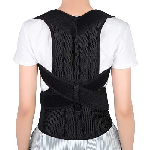 Posture Corrector for Men and Women, Back Brace Full Back Support with Adjustable Back Shoulder Lumbar Waist Support Belt, Improve Posture, Prevent Slouching, Relieve Back Pain (Medium)