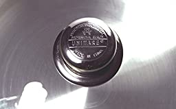Uniware Aluminum Heavy Gauge Caldero With Glass Lid,Silver (5.6 QT)
