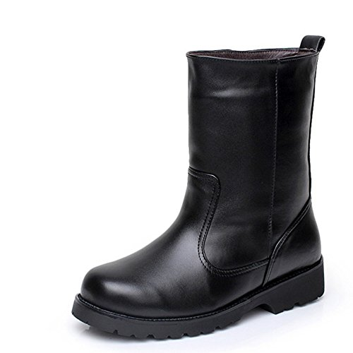 The winter snow boots men slip fur with warm cashmere high boots tube