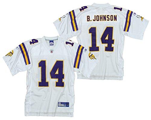 Minnesota Vikings Mens NFL Football Jersey Brad Johnson #14 White (Large)
