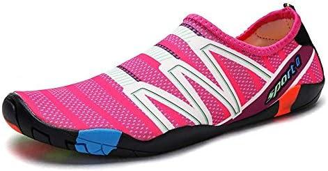 干渉水上流の靴アウトドアビーチシューズダイビングシューズ低スノーケリングシューズ弾性布ゴム色ボトムライトウィッキングコンフォートスピード女性と男性スイミングシューズピンク ポータブル (色 : Pink, Size : US6)