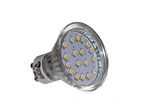 GU10 LED Bombilla 18 (3528) SMD 1W LED luz Lámpara LED Blanco Cálido 3000K, 230V 80LM: Amazon.es: Iluminación
