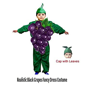 859a63b093416b Buy Fancy Steps Realistic Look Black Grapes Fruit Dress Costume for School  (3 to 4 Years) Online at Low Prices in India - Amazon.in