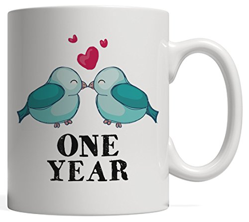 1st Anniversary Relationship or Gay Marriage Gift Mug For Couples: Together For One Year - Give it to your Husband or Boyfriend It'll Be His New Favorite LGBT Pride Mug