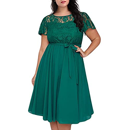 Green Plus Size Dress Amazon