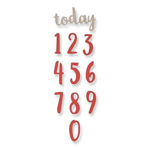 Sizzix Thinlits Stanzen Set 11 Stück-Pinsel-Zahlen von Debi Potter, Steel, Multicolour, 23.3 x 7 x 0.2 cm Ellison 661726