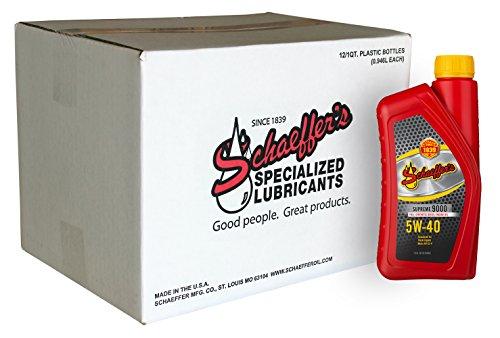Schaeffer 9000-012 Supreme Full Synthetic Diesel Engine Oil,