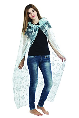P 'tit Clown Adult Cape Fabric  14116  Queen of Ice  One Size