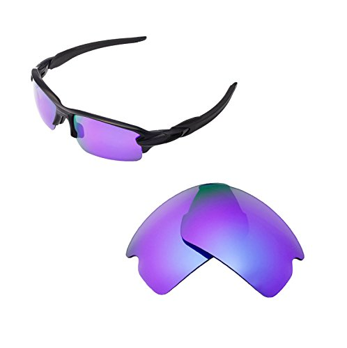 Walleva Replacement Lenses for Oakley Flak 2.0 Sunglasses - Multiple Options Available (Purple - Polarized) ()