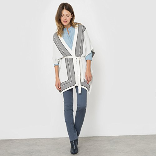 tom-tailor-womens-patterned-poncho-white-size-l-xl