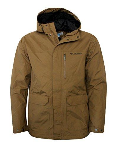 Columbia Men's Oak Springs Omni Tech Waterproof Shell Hooded Jacket DELTA (M)