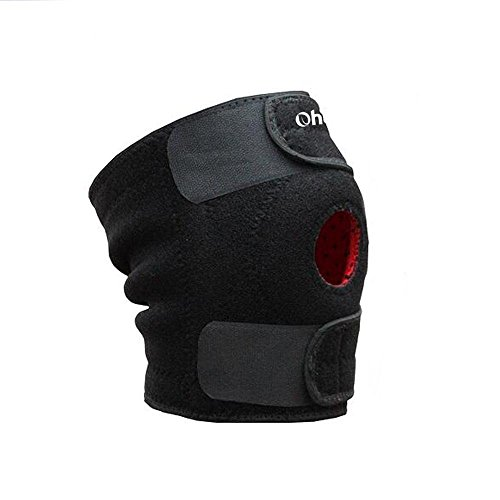 Ohuhu Breathable Knee Support Brace Protector, Adjustable One Size, Black by Ohuhu