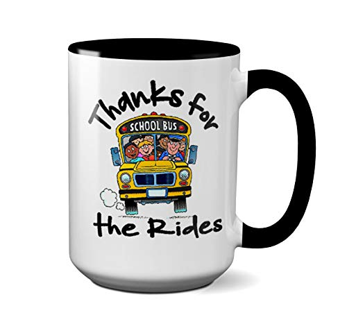 Thanks For The Rides Custom Coffee Mug //School Bus Driver//Teacher Appreciation (11 OZ)