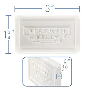 BERGMAN KELLY Bar Soap Travel Amenities Hotel Toiletries In Bulk Guest Size Bars Individually Wrapped (Hotel Size 1 Oz, 50 Pack)