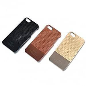 Casual Style Genuine Leather Protector Case Cover For iPhone 5 5S & Color = Black