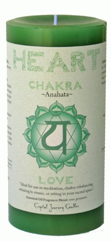 1 X Heart Chakra Candle (Love Heart Candle)