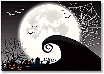 2020 Halloween Background Amazon.: Allenjoy 7x5FT Nightmare Before Christmas Themed