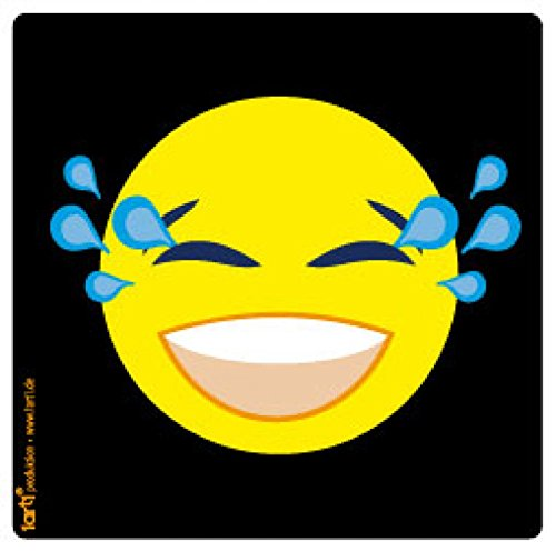 1art1 Emoticons Sticker Adhesive Decal - Emoji Smiley Laughing with Tears (4 x 4 inches) ()