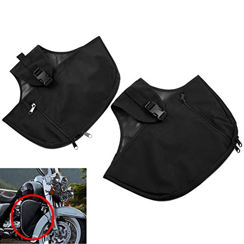(Rebacker Soft Lowers Chaps Leg Warmer Bag For Harley 80-later Touring and Trike models Road King Street Glide)
