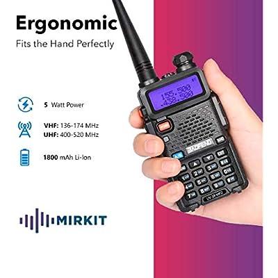 Baofeng Ham Radio UV-5R MK2 5W 1800 mAh Li-ion Battery Mirkit Edition and Lanyard Mirkit Ham Radio Operator: Electronics