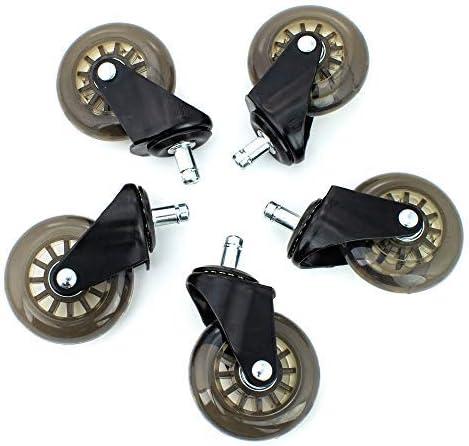/7,6/cm Heavy Duty Wheels /& scratch-free pavimenti in legno duro e altri. set of 5 Zbrands////sedia da ufficio sostituzione Caster Wheels incluso/ / salto /Sostituzione per Aeron Embody