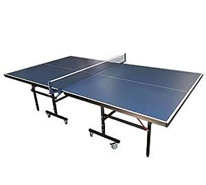 SIMBA Mesa de Ping Pong compacta para–Azul Ping Pong de Mesa pingpong