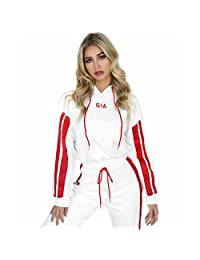 Womens Casual Pullover Hoodie Sweatpants 2 Piece Sport Tracksuit Outfits Sets