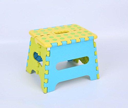 F-eshion 1PC * piccolo plastica portatile sgabello pieghevole di sicurezza bambini sedia * Colore casuale
