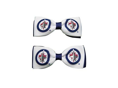 UPC 840556113331, Winnipeg Jets Hair Bow Pair