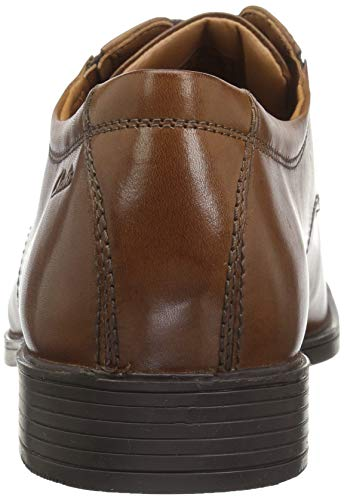 Stringate Tilden Dark Leather Clarks Derby Marrone Tan Uomo Plain Scarpe gBdnnxfWT